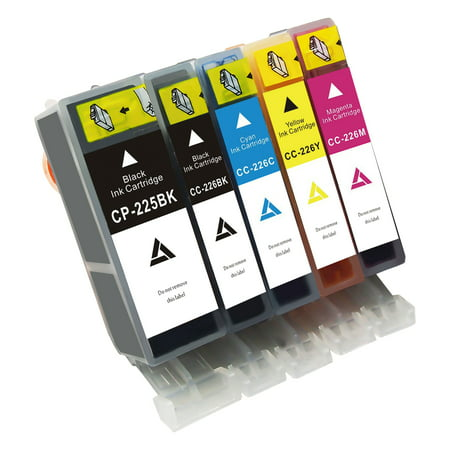 Linktoner Ink Cartridges CLl226 Compatible Replacement for Canon PGI-225 CLI-226 Combo Ink Cartridges B/C/M/Y/GY 5 Colors Set 23 Compatible Replacement Cartridge Color