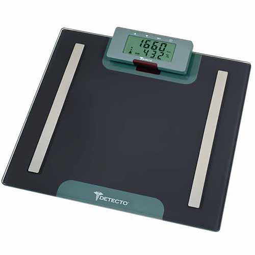 Detecto Advantage 7-in-1 Body Composition Scale with LCD Digital Wireless Remote, D410