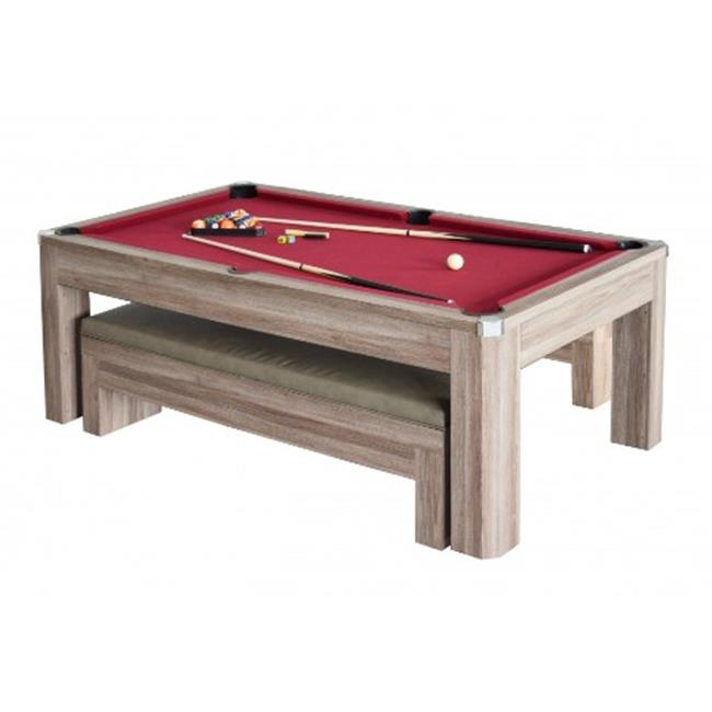 Blue Wave Products NG2535P Newport 7 Ft. Pool Table Set With Benches