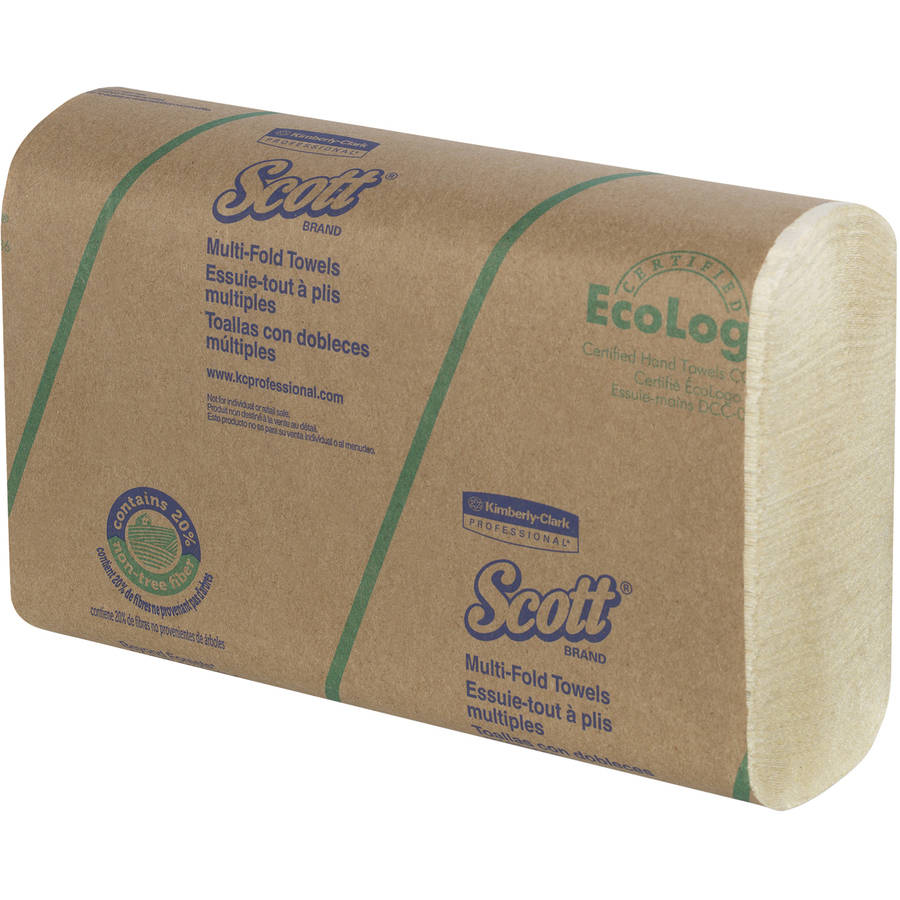Scott Multi-Fold Soft Wheat Paper Towels, 16 Packs of 250 sheets, 4000 Total