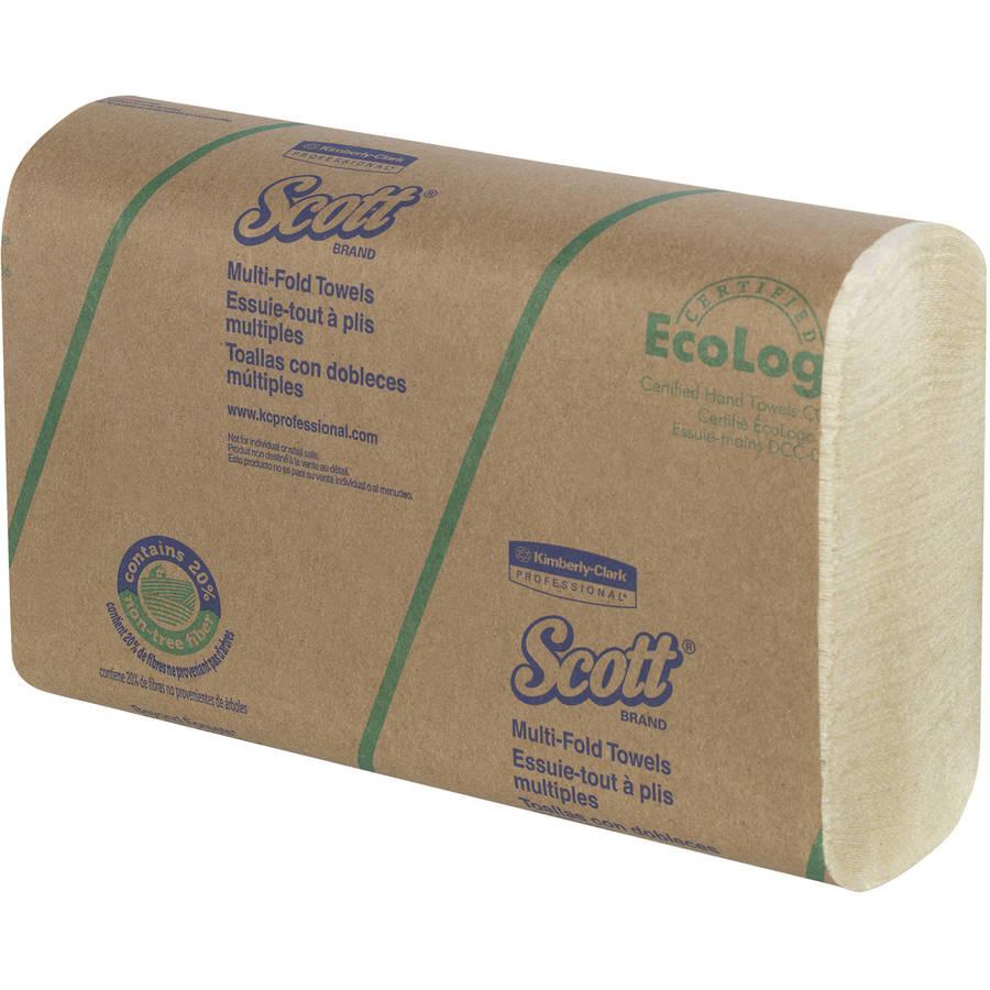 Scott Multi-Fold Soft Wheat Paper Towels, 16 Packs of 250 sheets, 4000 Total