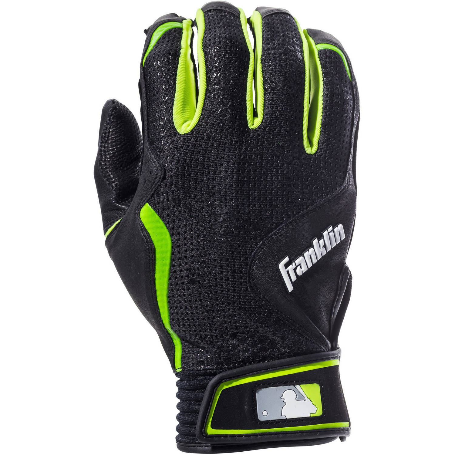 Franklin Sports Freeflex Series Black Leather Adult Batting Gloves by Franklin Sports