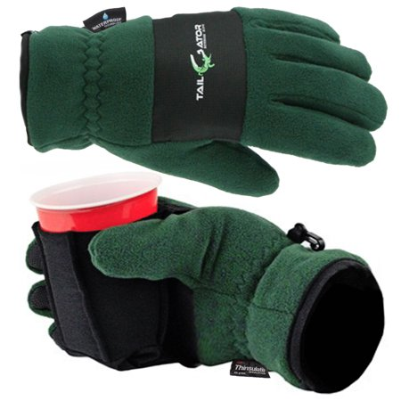 TailGator Thinsulate Fleece Winter Gloves Extreme Cold Weather Waterproof Gloves with Cup - Green Gloves