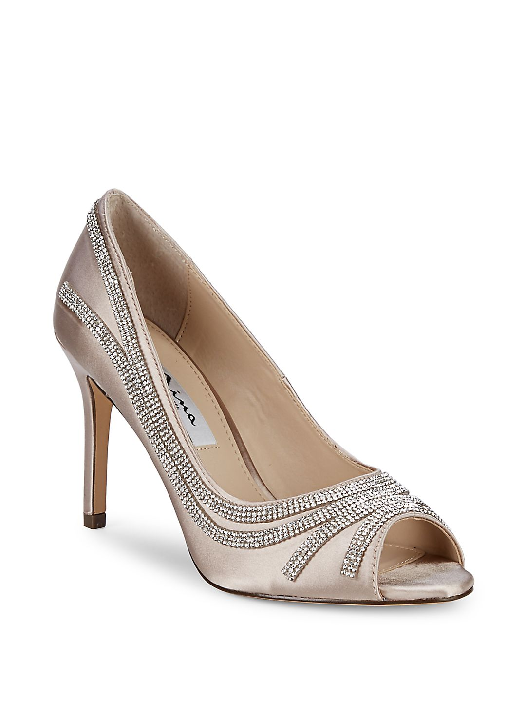 Rylinn Embellished Peep-Toe Pumps