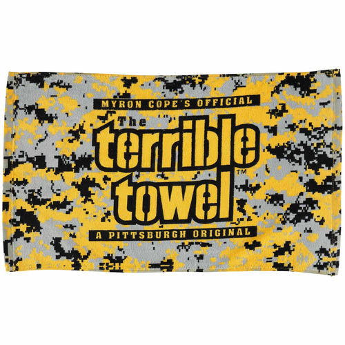 Myron Cope's Official - The Terrible Towel - Black and Gold Camo