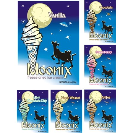 Moonix Freeze Dried Ice Cream. Variety pack. 10ct (Best Sellers) Best