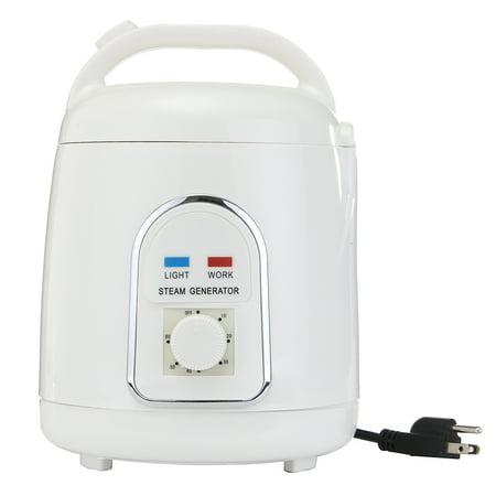 Commercial Steam Generator System - 110V 1.8 L White ABS Plastic Portable Home Steam Pot Steamer 850W-900W Sauna Generator US/EU Plug