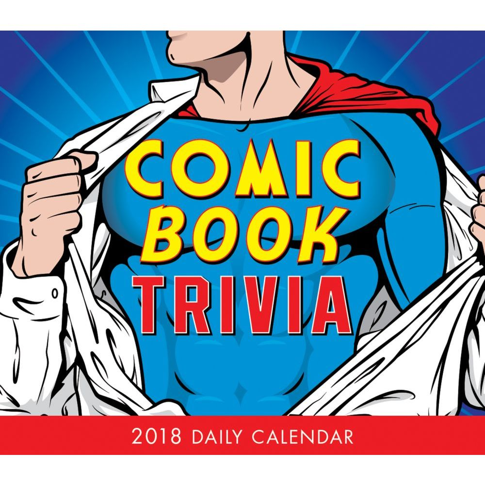 2018 Comic Book Trivia Desk Calendar, Cartoons | Comics by Sellers Publishing by