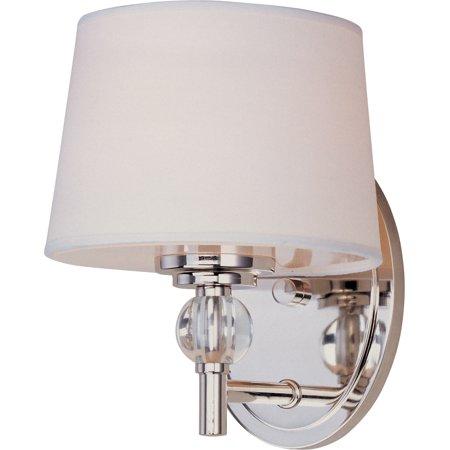 Hunter Polished Sconce (Maxim Lighting 12761WTPN Rondo Wall Sconce, Polished Nickel)