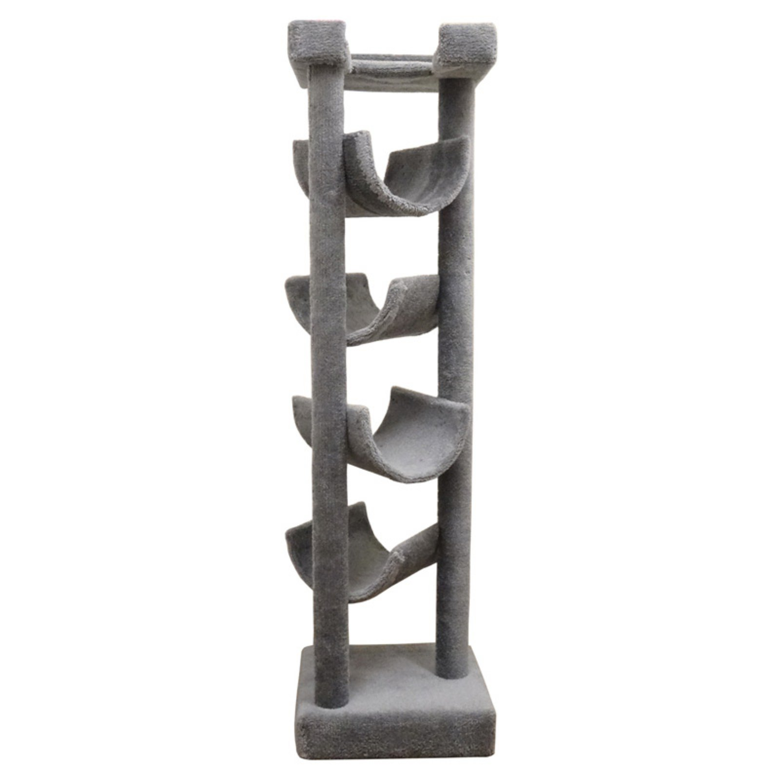 New Cat Condos 72 in. Premiere Solid Wood Skyscraper Cat Tree by Overstock