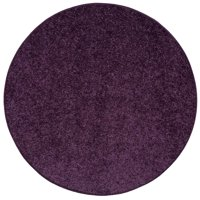 Home Queen Pet Friendly Area Rugs Purple - 4' Round