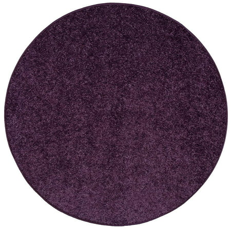 Home Queen Pet Friendly Area Rugs Purple - 4' Round ()