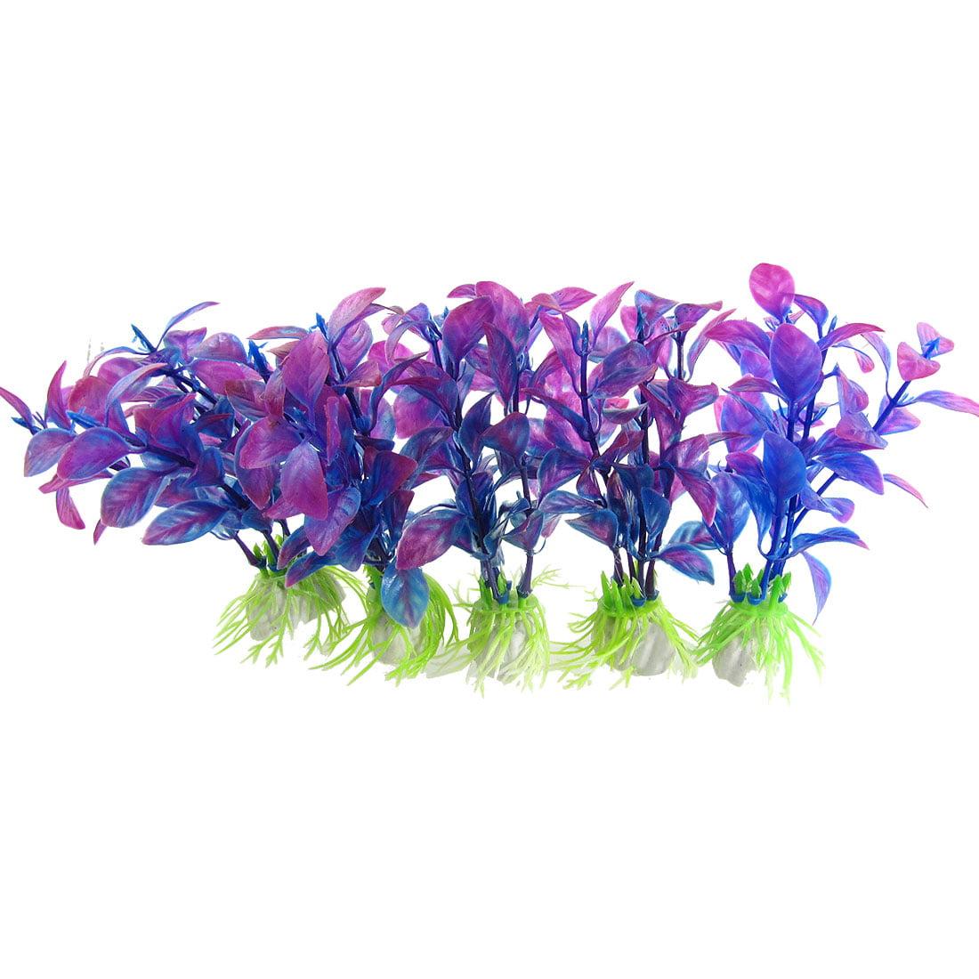 Plante Aquatique Artificielle Plastique Aquarium Décoration Violet Bleu 5 Pces - image 1 de 1