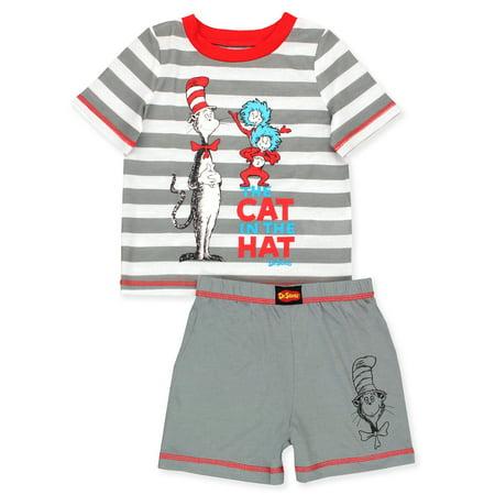 Dr. Seuss The Cat in the Hat Toddler Boys 2 piece Short Pajamas Set