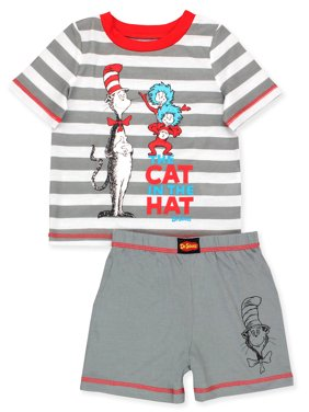 Dr. Seuss The Cat in the Hat Toddler Boys 2 piece Short Pajamas Set K183977SE
