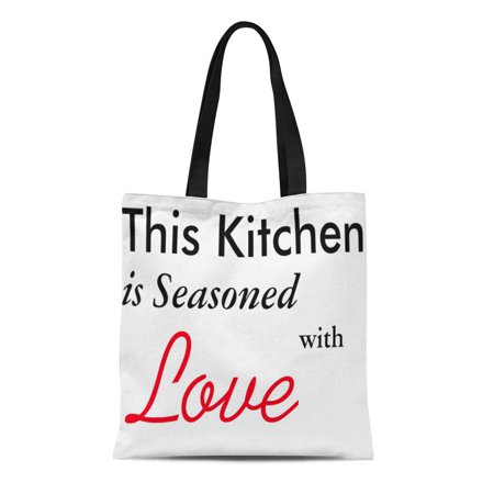 SIDONKU Canvas Tote Bag Cooking This Is Seasoned Love Her Family Furniture Reusable Handbag Shoulder Grocery Shopping Bags ()