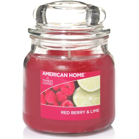 American Home by Yankee Candle Red Berry and Lime, 12 oz Medium Jar Candle