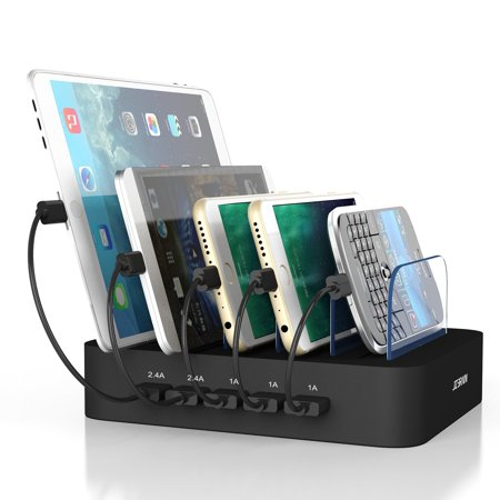 Multi Device Charging Station Organizer For Smartphones Tablets Usb Charger Docking Stations Multiple Devices