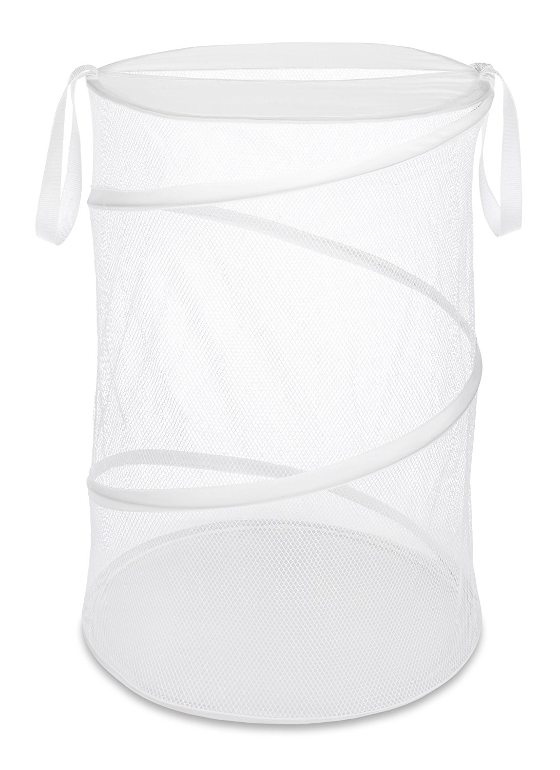 18-inch Collapsible Laundry Hamper, White, Ship from USA,Brand Whitmor by