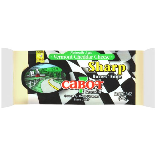 Cabot Vermont Naturally Aged Sharp Racer?s Edge Cheddar Cheese, 8 oz