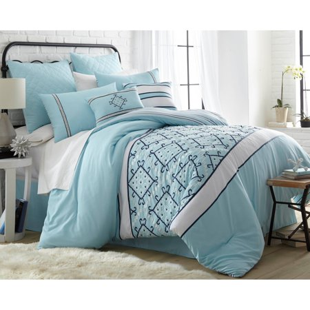 8 piece embroidered comforter set queen arizona. Black Bedroom Furniture Sets. Home Design Ideas