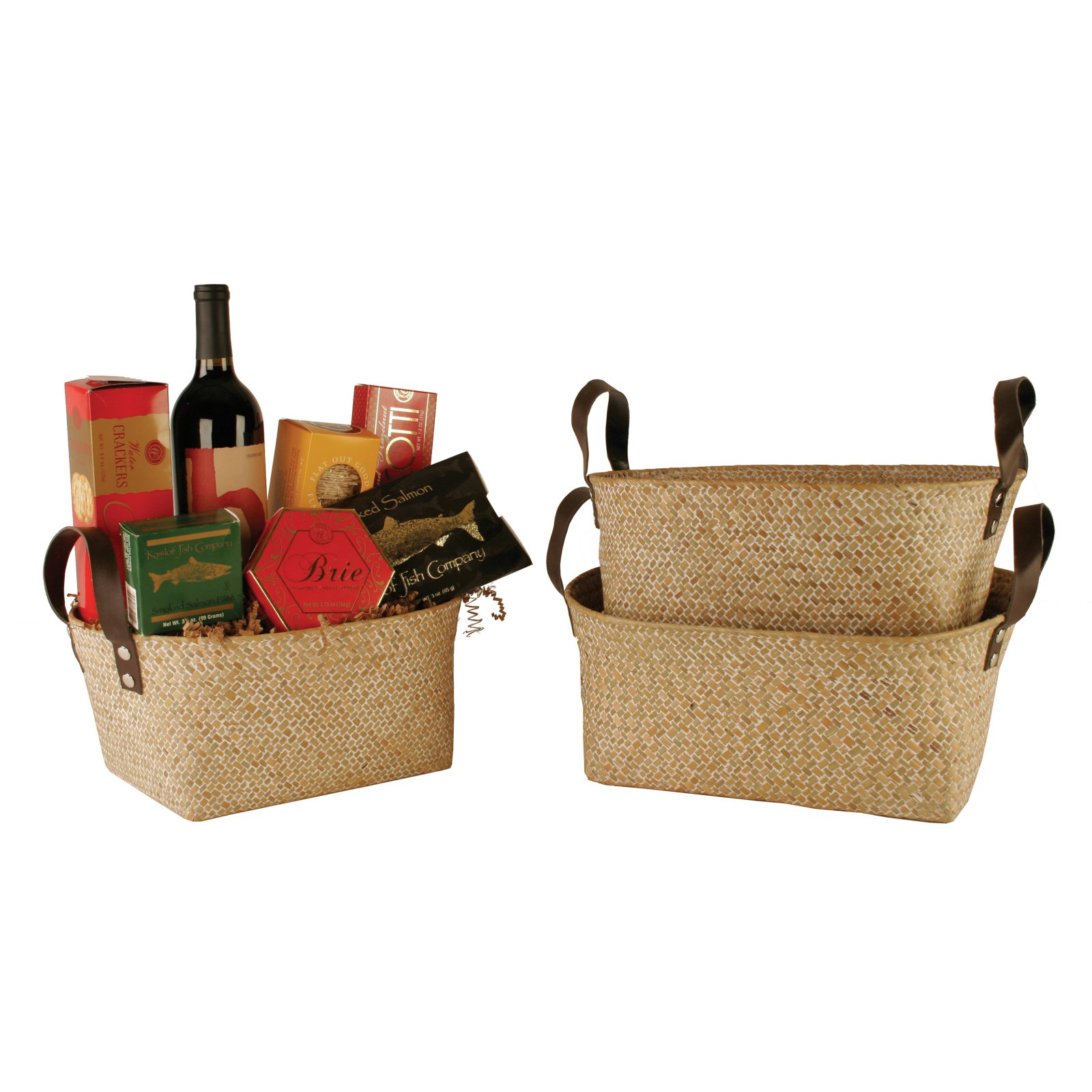 Wald Import Seagrass Reed Basket - Set of 3