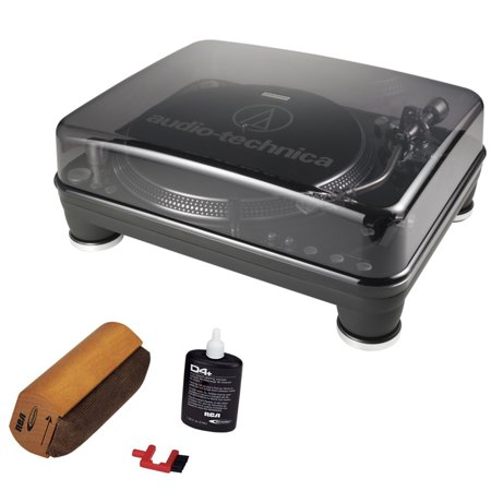 Audio-Technica AT-LP1240-USB Professional DJ Turntable With RCA Turntable Cleaning System by