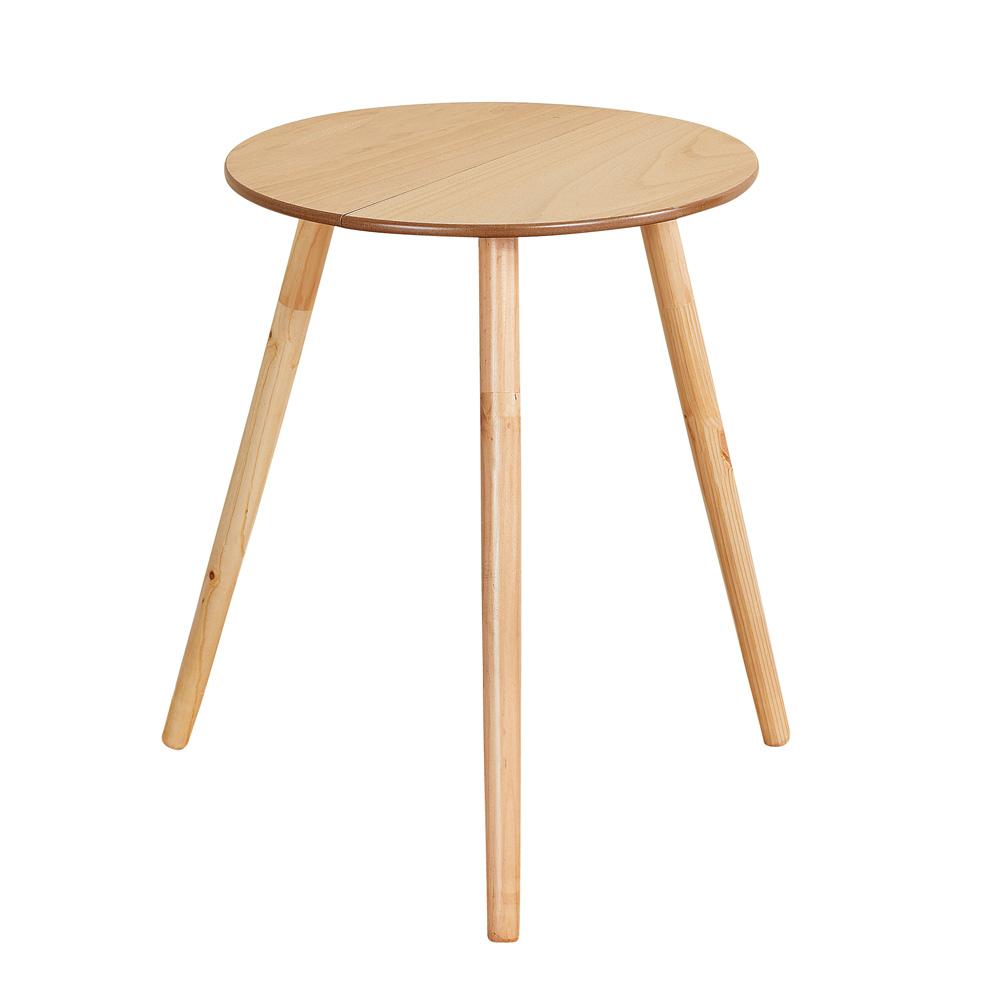 Wooden Round Side Accent Table, 20u201d Diameter X 25.5u201d Height U2013 Sturdy Classic