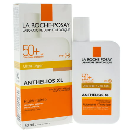 Anthelios XL Ultra Light Tinted Fluid SPF 50 by La Roche-Posay for Unisex - 1.7 oz