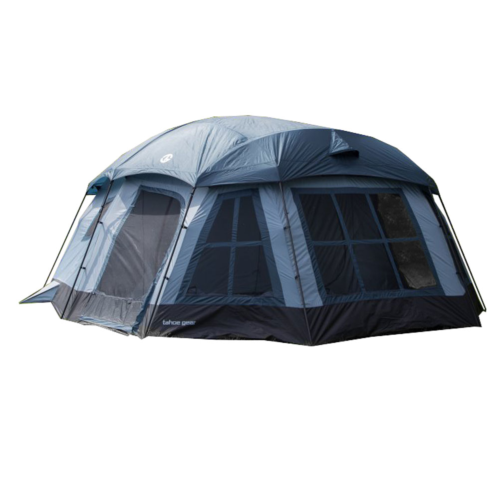 Tahoe Gear Ozark TGT-OZARK-16 16-Person 3-Season Large Family Cabin Tent, Blue by Tahoe Gear
