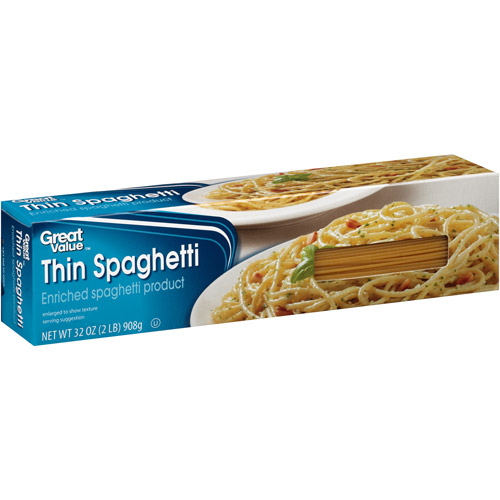 Great Value: Thin Spaghetti, 32 oz