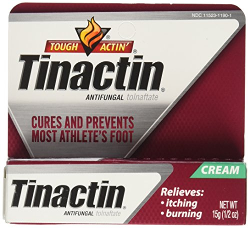 2 Pack - Tinactin Antifungal Cream - Cures most Athlete's Foot .5oz Each