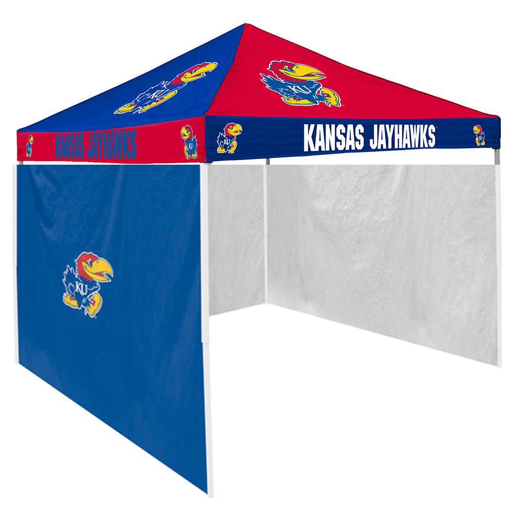 Kansas Jayhawks NCAA 9' x 9' Checkerboard Color Pop-Up Tailgate Canopy Tent