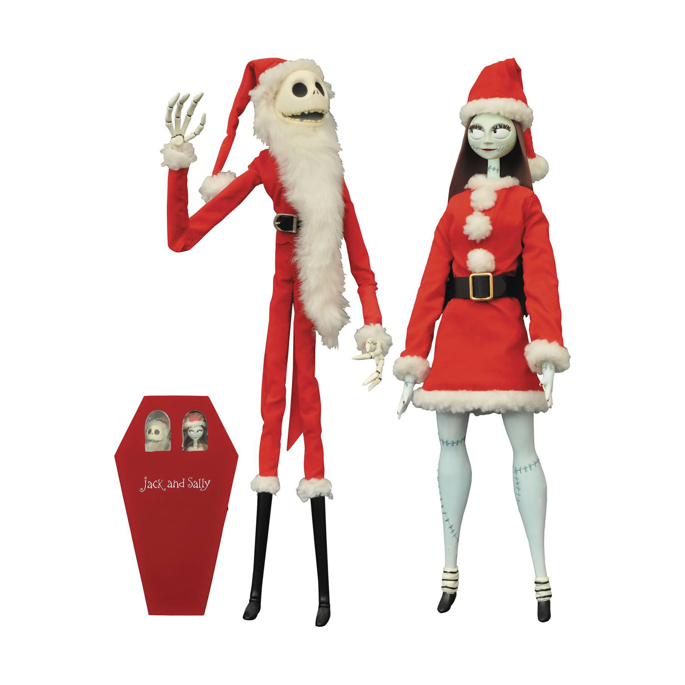 Diamond Select Toys Nightmare Before Christmas Santa Jack and Sally ...