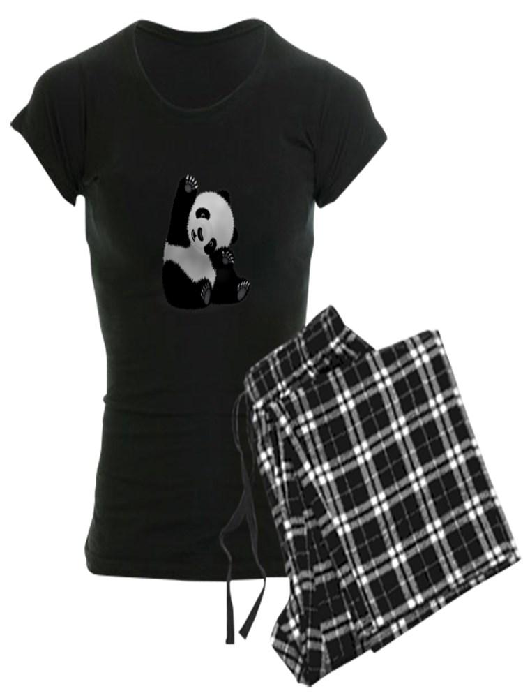 3b3c4ba27 CafePress - Baby Panda Pajamas - Women's Dark Pajamas - Walmart ...