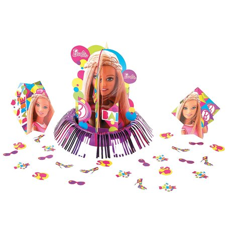 Barbie Sparkle Table Decor Kit (23pc) for Birthday - Party Supplies - Licensed Tableware - Misc Licensed Tableware - Birthday - 23 (Table Decor Kit)