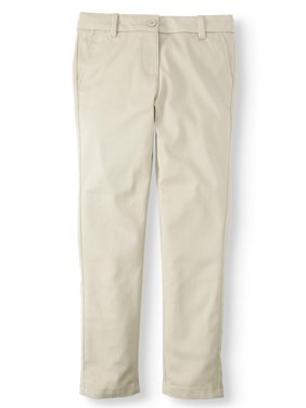 Wonder Nation Girls 4-16 School Uniform Stretch Twill Skinny Pants