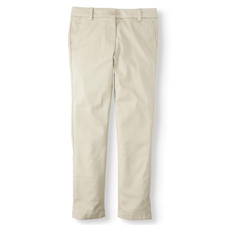 Wonder Nation Girls School Uniform Stretch Twill Skinny Pants (Little Girls & Big (Robert Rodriguez Skinny Pants)