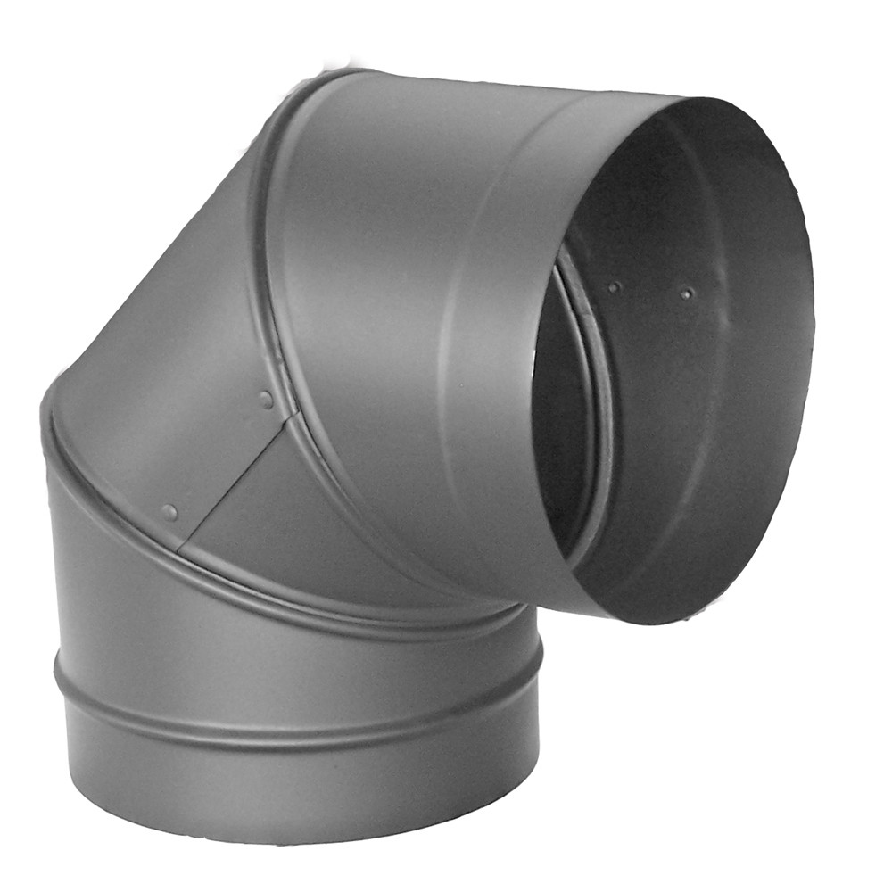 "DuraVent 6DBK-E90 6"" Inner Diameter - DuraBlack Stove Pipe - Single Wall - 90 Degree Elbow"