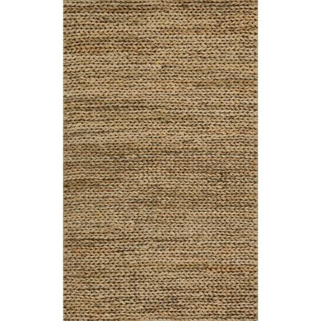 - Alexander Home Hand-woven Natural Beige Jute Farmhouse Rug (2' x 3') - 2' x 3'