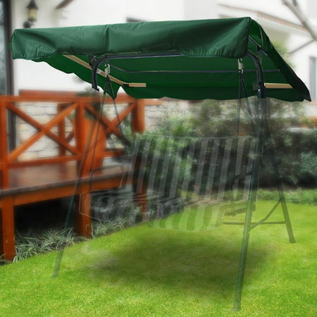 "Swing Canopy Cover (Green) 77""x43"" - Deluxe Polyester Top..."
