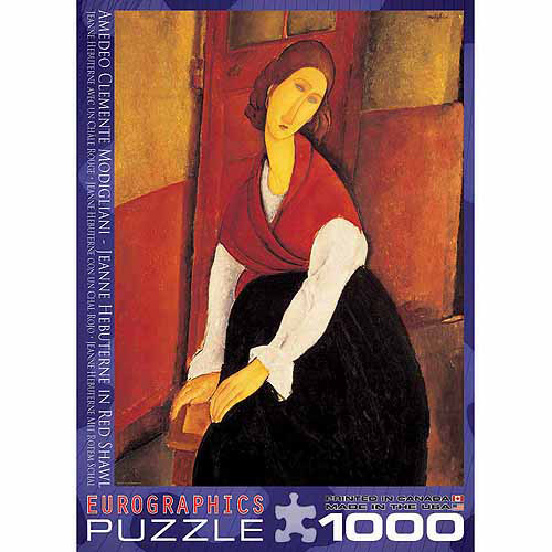 EuroGraphics Jeanne Hebuterne in Red Shawl by Amedeo Modigliani 1000-Piece Puzzle