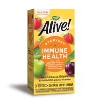 Alive! Everyday Immune Health Supplement with Echinacea, Zinc, & Vitamins A, C, and D3, 30 Softgels