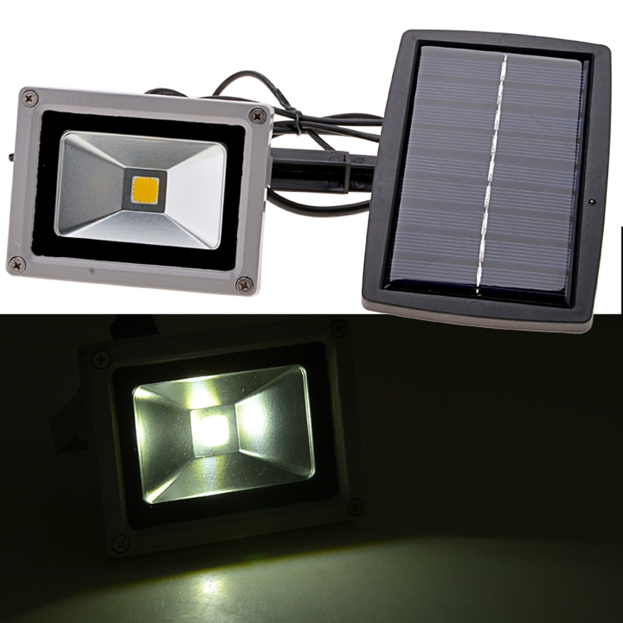 Hot 10W Solar Power LED Night Light Garden Spotlight Waterproof Outdoor Lamp by