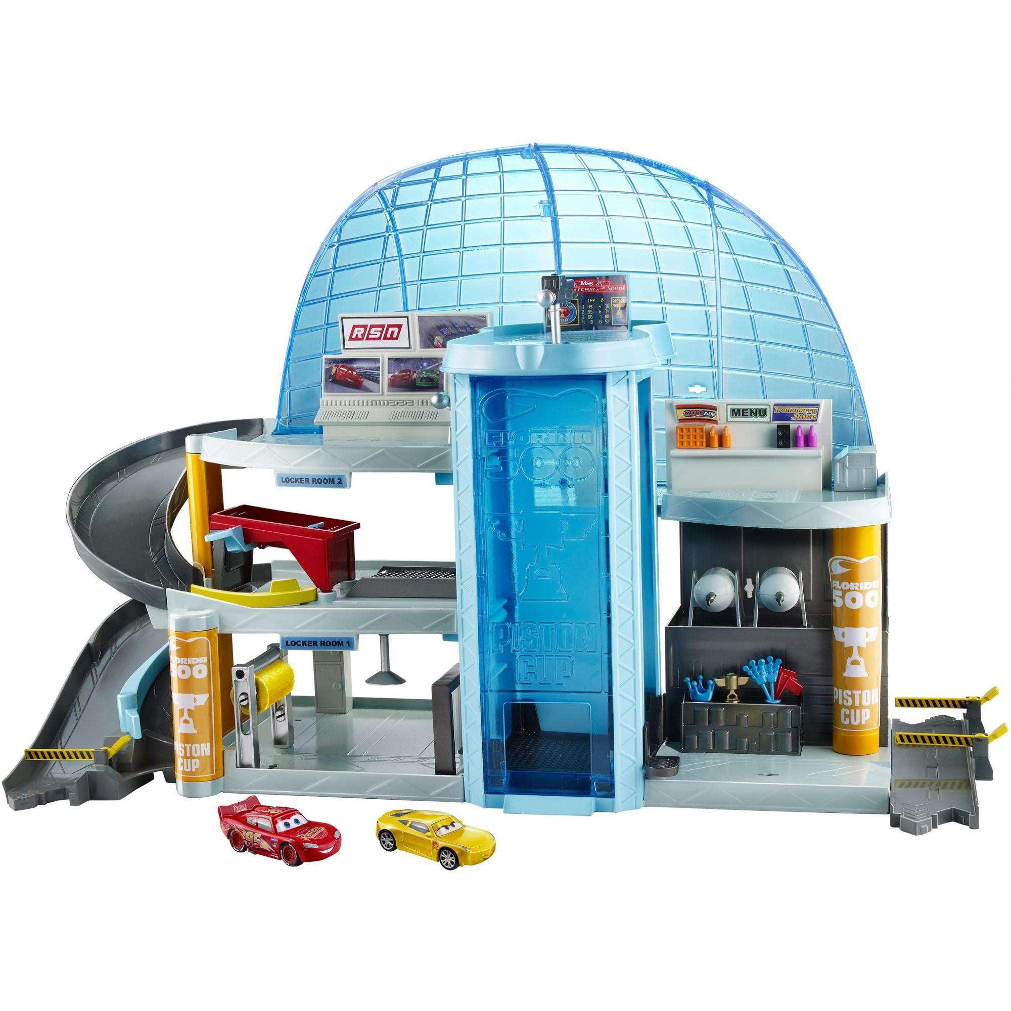 FLORIDA SPEEDWAY PIT STOP Disney Pixar CARS 3 Toy Playset