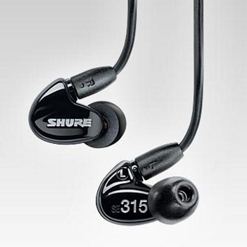 Shure SE315 Sound Isolating Earphones (Black)