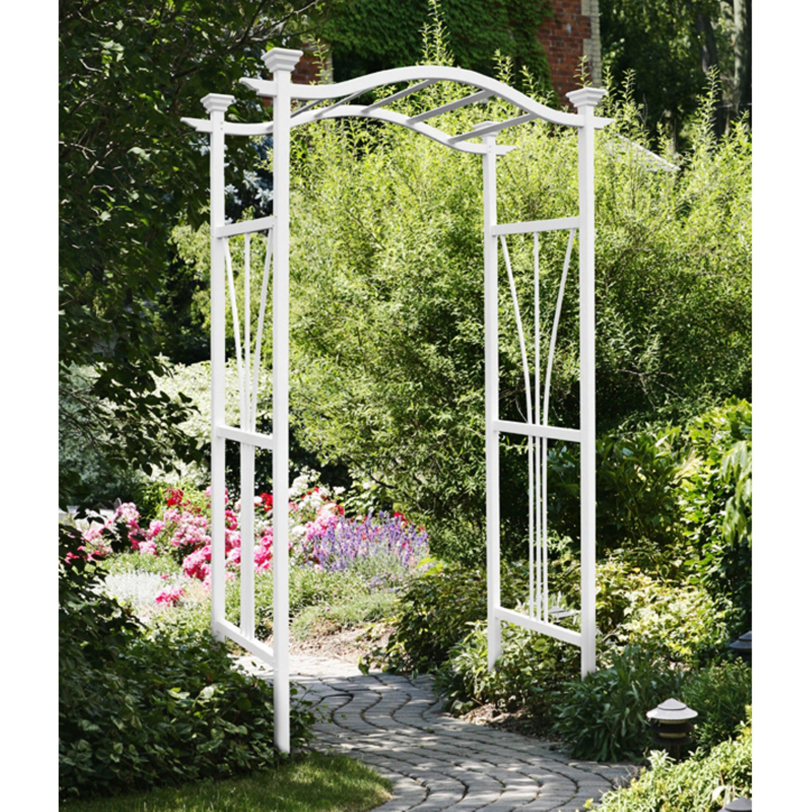 New England Arbors Eden London 7.25-ft. Vinyl Arch Arbor by New England Arbors