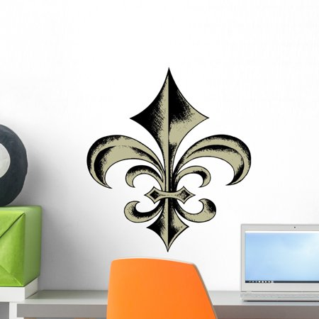 Fleur Lis Sketch Wall Decal by Wallmonkeys Peel and Stick Graphic (18 in H x 16 in W) WM308917