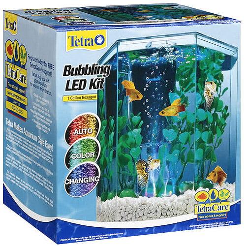 Tetra Hexagon Aquarium Kit with LED Bubbler, 1 Gallon