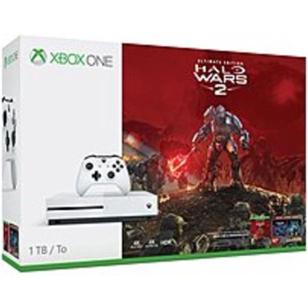 Microsoft Xbox One S 1TB Halo Wars 2 Bundle, White,